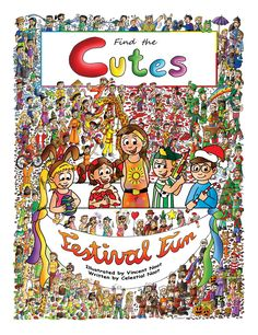 "The 2nd book in the series, Find the Cutes, is called ""Festival Fun."" It's available for only $14.99, softcover, 36 pages and 12 double pages of look and find fun. Order on Amazon or on our website:   http://www.amazon.com/Find-Cutes-book-Festival-books-ebook/dp/B00TFNRWK4  http://findthecutes.com/?product=softcover-find-the-cutes-festival-fun"