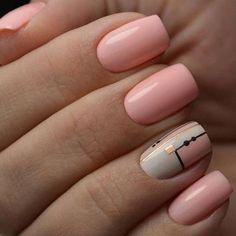 The Manicure Everyone Is Trying This Year : Fantastic pink nail polish Neutral Nail Polish, Pink Nail Polish, Pink Nails, Nail Polishes, Cute Nail Colors, Cute Nails, Pretty Nails, Short Nail Designs, Nail Art Designs
