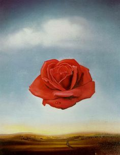 """A beautiful poster of the Salvador Dali painting """"Meditative Rose""""! A Fine Art masterpiece. Check out the rest of our amazing selection of Salvador Dali posters! Need Poster Mounts. Salvador Dali Tableau, Salvador Dali Gemälde, Salvador Dali Paintings, Art And Illustration, Art Amour, Art Moderne, Fine Art, Surreal Art, Amazing Art"""