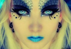 Ice Mermaid- Airbrush makeup at its best. Wanna learn about the basic of airbrush makeup?  Then you gotta check out this great site with amazing info on airbrush makeup.  http://thebestairbrushmakeup.com/  #airbrushmakeup #fantasymakeup