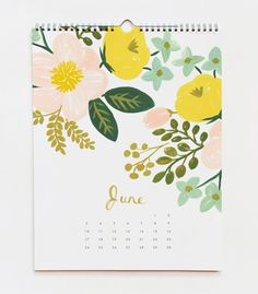 pretty botanicals calendar by Rifle Paper