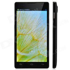 "JIAKE JK-11 Quad-Core Android 4.2 WCDMA Bar Phone w/ 5.0"" / Wi-Fi / GPS / FM - Black"