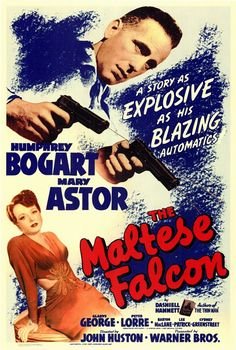 Humphrey Bogart and Mary Astor in The Maltese Falcon, 1941