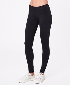 Women's Black Go-To Legging. Super soft organic Women's Go-To Legging from Wear PACT. Fair Trade Factory. GOTS Certified Made With Organic Cotton Cotton Leggings, Women's Leggings, Cute Fashion, Long Sleeve Tops, Organic Cotton, Clothes For Women, Fair Trade, Shopping, Sustainable Products