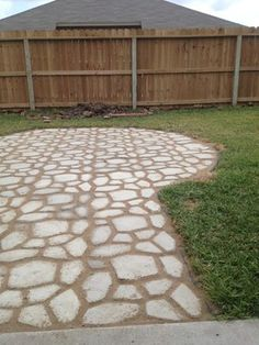 Walkmaker path made by hand (from quikrete). Easy and amazing outcome!!!
