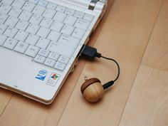 At first glance the Motz Tiny Wooden Acorn Speaker looks a lot like those kitschy trinkets that some folks love to hang on their keychain but it is actually a tiny wooden hand crafted speaker.