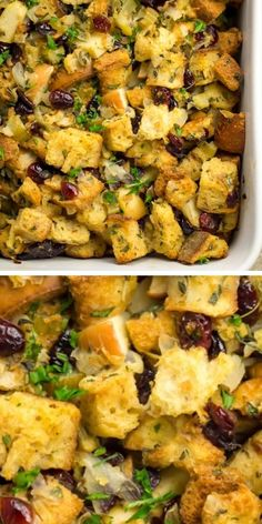 Stuffing Recipes For Thanksgiving, Healthy Thanksgiving Recipes, Fall Dinner Recipes, Healthy Crockpot Recipes, Autumn Food Recipes, Christmas Stuffing, Cooking Recipes, Thanksgiving Feast, Holiday Recipes