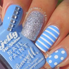 Cute and Easy Nail Art Designs That You Will Love - Nail Polish Addicted Simple Nail Art Designs, Best Nail Art Designs, Awesome Designs, Cute Nail Art, Easy Nail Art, Get Nails, How To Do Nails, Nails Polish, Manicure E Pedicure