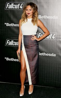 High Cut and Fabulous from Chrissy Teigen's Pregnancy Style | E! Online