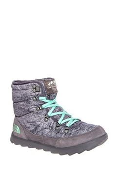 The North Face Thermoball Lace Boot Womens Heather Grey/Surf Green 8 * Read more reviews of the product by visiting the link on the image.