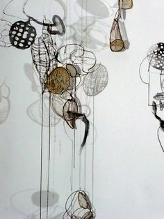 Contemporary Mixed Media - Lanterns-detail (Original Art from Rickie Wolfe)