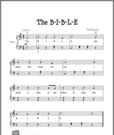 E Piano, Piano Sheet Music, Music Worksheets, Piano Lessons, Word Of God, Musicals, Words, How To Make, Sheet Music