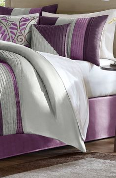 Madison Park Amherst Comforter Set in Purple