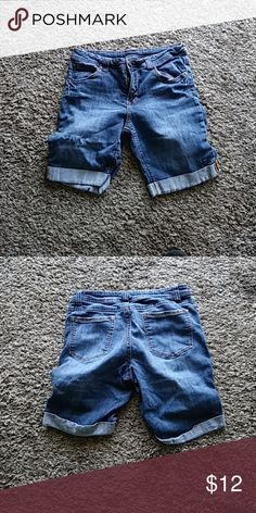 Denim Shorts Good condition. Size 12. Inseam 9in. Faded Glory Shorts Jean Shorts