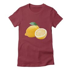 lemons womens t-shirt in scarlet_red