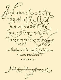Italian humanists revolted against the heavy Gothic look by reverting to a more Carolingian script and inventing a cursive form of it, known as italic. Cursive Calligraphy, Cursive Handwriting, Penmanship, Caligraphy, Beautiful Handwriting, Old Script Font, Calligraphy Tattoo, Script Lettering, Hand Lettering Alphabet