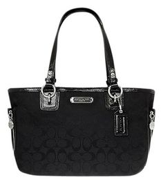 270ee1327bc09 Coach Gallery Signature Zip Tote-style  23766 Black Tote Bag  225