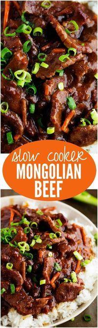 Best Slow Cooker Mongolian Beef Recipe on Pinterest