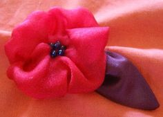 Finished Fabric Flower and Leaf
