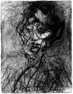 Frank Auerbach ~ Head of Catherine Lampert VI, 1980