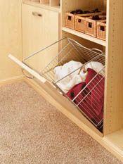 Closet Tilt-Out Hamper Basket - Richelieu Hardware Laundry Storage, Laundry Hamper, Plastic Laundry Basket, Laundry Sorter, Laundry Bags, Plastic Baskets, Laundry Closet, Bathroom Closet, Closet Bedroom