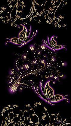 Purple Butterfly Wallpaper, Wallpaper Nature Flowers, Flowery Wallpaper, Flower Phone Wallpaper, Sunset Wallpaper, Cute Wallpaper Backgrounds, Love Wallpaper, Cellphone Wallpaper, Pretty Wallpapers