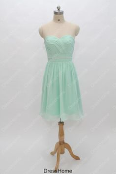 Mint Bridesmaid Dress  Chiffon Bridesmaid Dress / by DressHome, $82.99