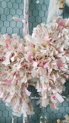 Pink Rag Fabric Wire Wings Angel Wing Decor Wedding | Etsy Wedding Props, Wedding Decorations, Decor Wedding, Rag Garland, Rag Wreaths, Angel Wings Decor, Felt Fabric, Fabric Scraps, Tela