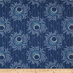 """Downton Abbey II Flower Strings Blue from @fabricdotcom  Licensed by Carnival Film & Television Ltd. to Andover Fabrics, this cotton print fabric is inspired by the TV series, """"Downton Abbey."""" It is perfect for quilting, apparel, crafts, and home decor items. Colors include shades of blue and white."""