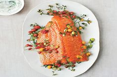Slow-Roasted Salmon with Cherry Tomatoes and Couscous / Peden + Munk