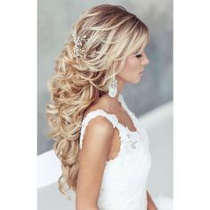 200 Beautiful Long Hair Styles That Are Great For Weddings And Proms ❤ liked on Polyvore featuring hair