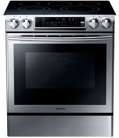 5.8 cu. ft. Slide-in Electric Range with Dual Convection System in Stainless Steel