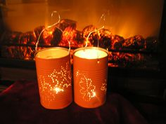 Recycled Tin Can Votives by Doingourpart on Etsy