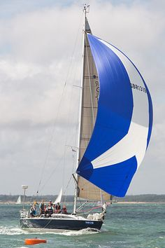 The X402 yacht 'Phoenix' racing during Cowes Week 2013.