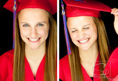 graduation / cap and gown / giggles / tassel  / senior pictures