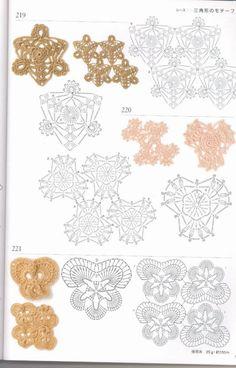 Gallery.ru / Фото #1 - Crochet patterns book motifs edgings - accessories