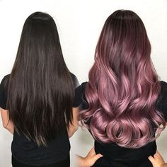 #Mydentity Artistic Team Member @kimwasabi Tiffany found her #Mydentity! Pre lightened with @guy_tang #Mydentity #magnum8 powder lightener with 20vl 1:2 ratio and @olaplex on her virgin hair. Pre tone with #mydentity Xpress toner: Blush, Misty Mauve + 6vl 1:2 ratio. Process for 10 mins on damp hair. Rootáge: #mydentity demi permanent 6SS Silver Smoke, 6DL Dusty Lavender +1 line of 6MR Midnight Rose + 6vl 1:2. Mids: 7RG Rose Gold, 8DL Dusty Lavender, 6MR Midnight Rose + 6Vl 1:2 Ratio. End...