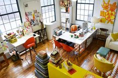 Erin Flett Studio #workspace #studio #desk #office
