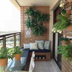Apartment Balcony Decorating Apartment Balconies Apartment Ideas Small Living Room Design Small Living Rooms Living Room Designs Balcony Plants Balcony Design Watering Cans Patio Decor, House Design, Beautiful Gardens, Small Balcony Garden, Small Apartment Decorating, Outdoor Decor, Decorating On A Budget
