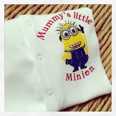 Despicable me Minion  babygrow sleepsuit at jellibabies personalised baby and  children's clothes and accessories Devon