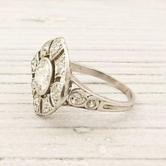 Antique European Cut Diamond Edwardian Engagement Ring, by ErstwhileJewelry; so timeless and beautiful
