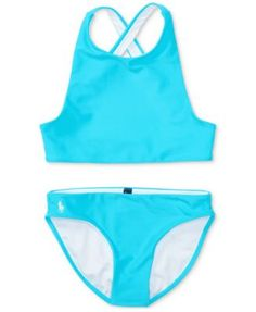 RALPH LAUREN Infant Girls Racerback Tankini 2 Piece Bikini Set Swimsuit 2 2T