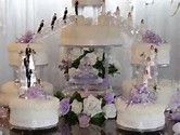 Image result for bridge wedding cakes with fountains