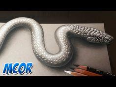 Como Dibujar una Serpiente 3D Realista - YouTube