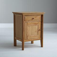 Buy John Lewis Essence 1 Door Bedside Table, Oak Online at johnlewis.com