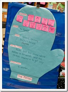 The Mitten graphic organizer from First Grade Parade
