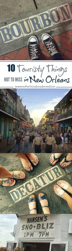 10 Touristy Things Not to Miss in New Orleans. Taking a first time trip with girlfriends or your sweetheart? You'll want to check out these fun things to do in Nola. Travel Tips!