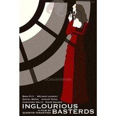 Impresión retro Movie poster Inglourious por ClaudiaVarosio en Etsy