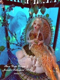Mermaid Lanteren Throne set for 1/12 scale by ShariDeppDesigns
