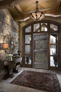 Double Sliding Doors, Interior Sliding Barn Doors, Interior Door, Interior Livingroom, Interior Paint, Kitchen Interior, Interior Ideas, Interior Inspiration, Living Room Mirrors